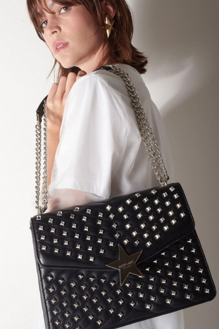 Sac Shop Art en cuir synthétique à studs