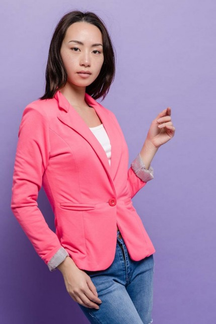 Blazer en coton stretch