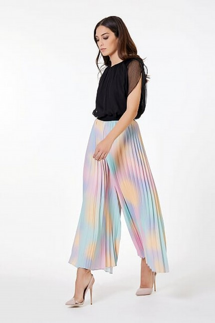 Pantalon large  multicolor